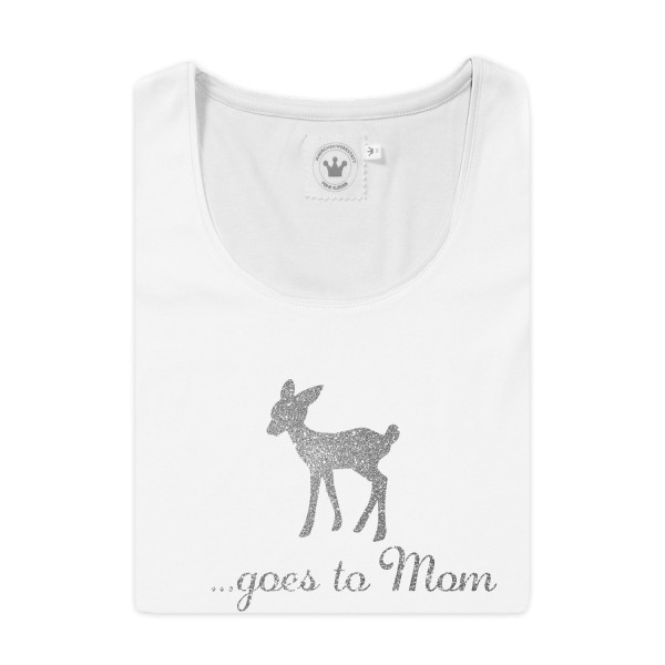 Damen T-Shirt Muttertag Bambi