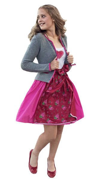 "Teenager Dirndl ""Rosenkönigin"""