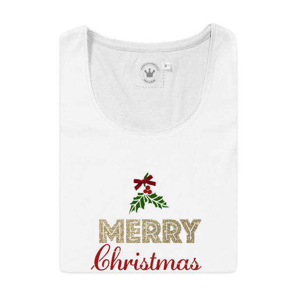 Damen T-Shirt Merry Christmas