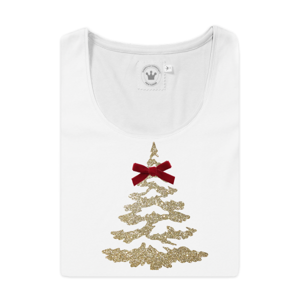 Damen T-Shirt Christbaum