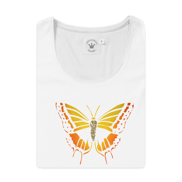 Damen T-Shirt Schmetterling