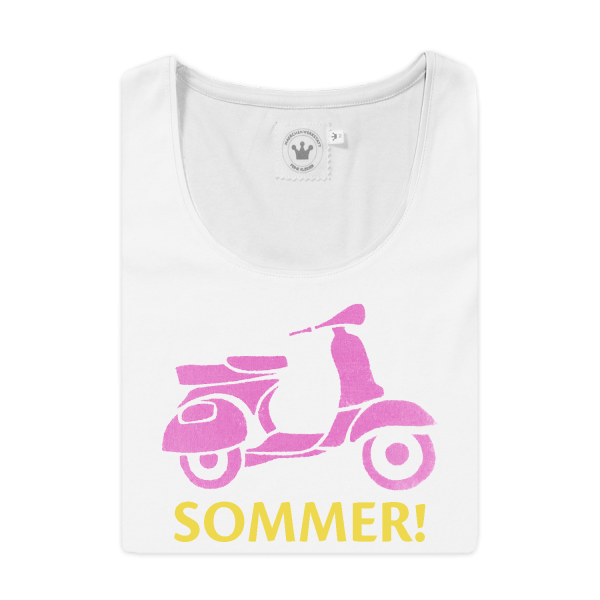 Damen T-Shirt Vespa