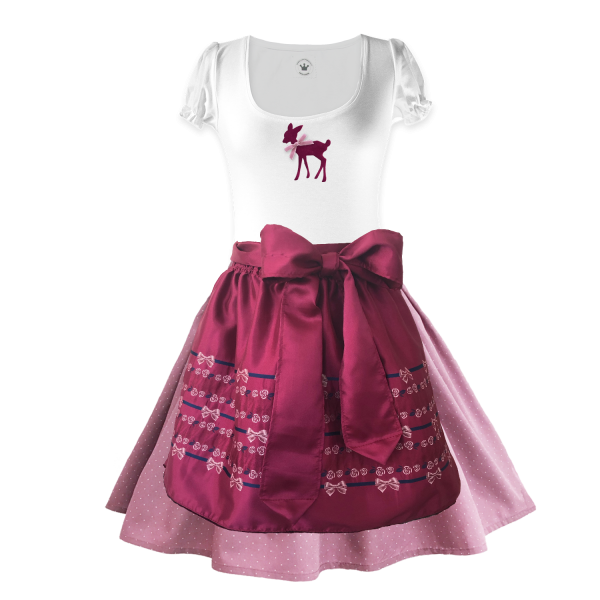 Teenager Dirndl Shirt Samt Reh